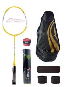 Li-Ning Combo of XP-710 Badminton Racquet (2 Pcs.), Kit Bag, Grip & 4 Other items