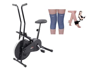 Lifeline 102 Exercise Cycle   Bonus Weight Cuff (1 kg)  And Soft Knee Support