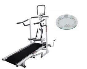 Lifeline 4 in 1 Deluxe Treadmill Machine for Home Use| Bonus Weighing Machine
