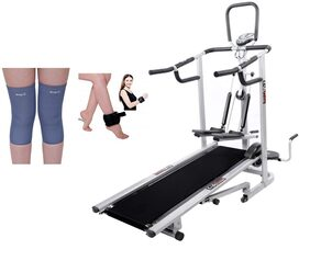 Lifeline 4 in 1 Deluxe Treadmill  | Bonus Weight Cuff (1 kg)  And Soft Knee Support