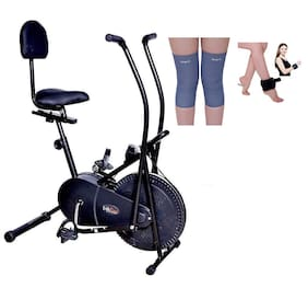 Lifeline Air Bike With Back seat    Bonus Weight Cuff (1 kg)  And Soft Knee Support