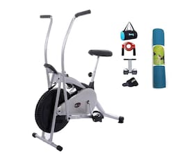 Lifeline Air Bike Deluxe    Tummy Trimmer , Gym Bag , Skipping Rope , Sweat Belt And Yoga Mat (6mm)