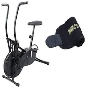 Lifeline Exercise Air Bike for Weight Loss at Home | Moving Handle Gym Bike| Bonus Sweat Belt for Stomach Exercise