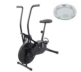Lifeline Exercise Air Bike for Home    Bonus Weighing Machine