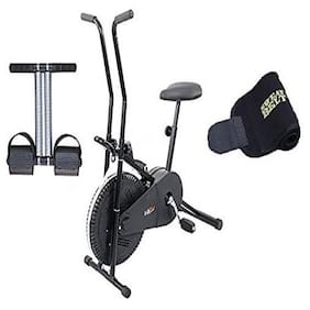 Lifeline Exercise Cycle 102 for Weight Loss at Home   Bonus Tummy Trimmer and Sweat Belt for Stomach Exercise