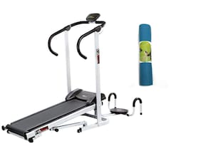 Lifeline Manual jogger With Twister And Pushup Bar  | Bonus Yoga Mat (6mm)