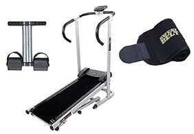 Lifeline Treadmill Machine for Walking and Running at Home| Bonus Tummy Trimmer and Sweat Belt for Stomach Exercise