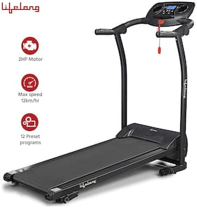 Lifelong LLTM207 Fit Pro 2 HP with 12 preset Workouts and Heart Rate Sensor for Home Use Treadmill