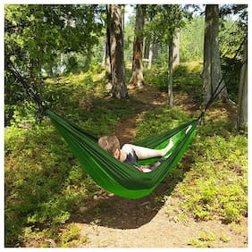 Lightweight Portable Double Hammock for Hiking, Travel, Backpacking, Beach, Yard