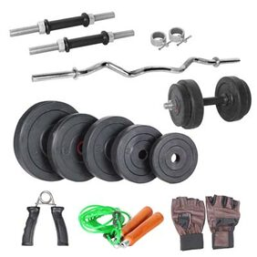 Livestrong 20 Kg Home Gym 14 Dumbells Rod And 1 Curl Rod And Accessories