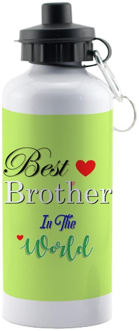 LOF Exculsive Rakshabandhan Special Gift For Brothers ( Best Brother In The World ) Sipper 600 ml