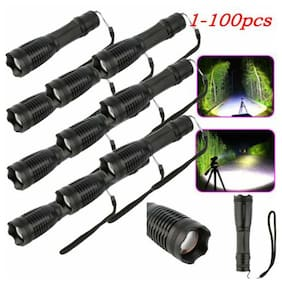 LOT 5000lm T6 LED Tactical Flashlight Torch 18650 Battery+Charger Hunt Rifle