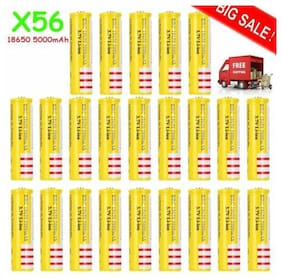 LOT BRC 18650Battery 3.7v Li-ion Rechargeable Batteries Yellow Long life For toy