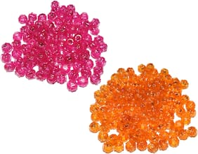 Macrame Crystal Beads, 8mm (Crystal Beads for Making Jhula, Toran, Jhumar, Pot and Wall Hangings) Mix Set of 2 Colour (50 x 2 Colour = 100 Qty)