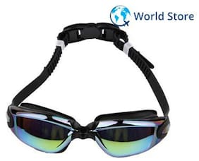 2a7ce1250ac Magideal Electroplating Silicone Waterproof Anti-fog Swimming Goggles  Plating Black