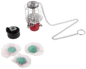 MagiDeal Portable Mini Camping Lantern Gas Lamp Tent Light with Hanging Chain