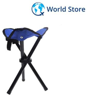 Magideal Portable Camping Fishing Travel Tripod Folding Seat Stool Chair - Blue