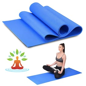 Marketon Yoga Mat 4mm Thick Gym Exercise Mat Non-Slip Exercise & Fitness Mat Workout Mat (Blue) 1Pc