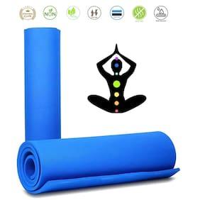 Marketon Yoga Mats Non-Slip Mat for Beginners Fitness Mat Women Exercise Fitness Sports Mat (Blue) 1Pc