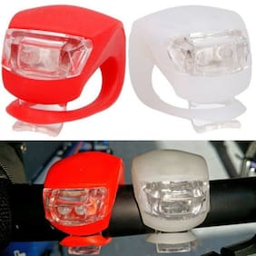 Marketwala Silicone Strap LED Bicycle Light/Headlight with Waterproof & 3 Lighting Mode for Bikes Cycles and Mountain Bikes ( 2 pcs ) Assorted Color