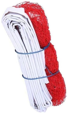 MDN BADMINTON NYLON NET HEAVY RED (PACK OF 1) SOLID QULITY