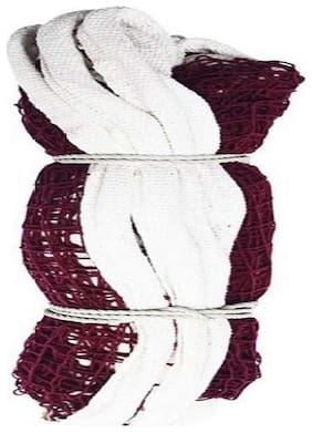 MDN BADMINTON COTTON NET 220 MAROON (PACK OF 1) SOLID QULITY