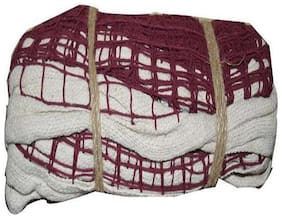 MDN BADMINTON COTTON NET 180 MAROON (PACK OF 1) SOLID QULITY