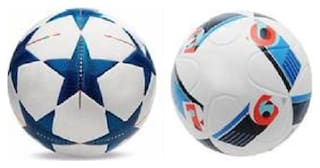 MDN Bluestar UEFA Champions League Football + UEFA Euro2016 France Football (Size-5) - Pack of 2 Footballs
