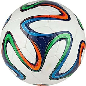 MDN BRAZUCA MULTICOLOR FOOTBALL SOLID MATERIAL POLYBUTADIENE SIZE-5 (PACK OF 1)