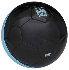 MDN CITY FOOTBALL SOLID MATERIAL POLYBUTADIENE SIZE-5 (PACK OF 1) BLACK/BLUE