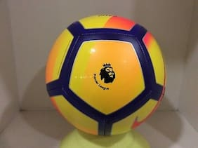 MDN PREMIER LEAGUE 2016-2017 YELLOW/ORANGE/BLUE FOOTBALL SIZE-5 (PACK OF 1)