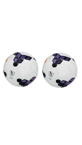 MDN Premier League Purple PVC Football (Size-5) - Pack of 2 Footballs