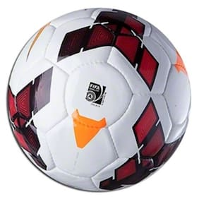 MDN PREMIER LEAGUE FOOTBALL SOLID MATERIAL POLYBUTADIENE SIZE-5 (PACK OF 1) WHITE/RED