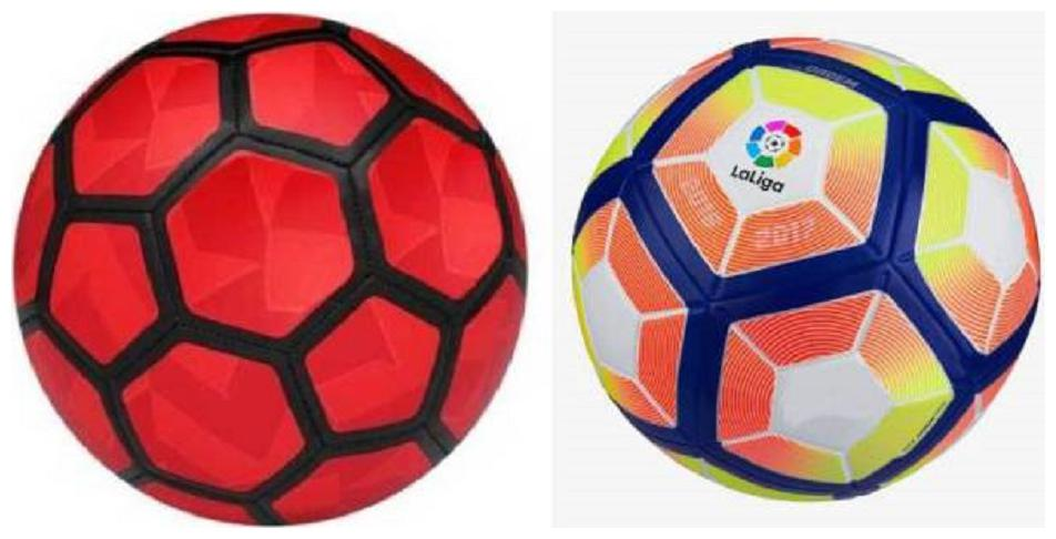 MDN Strike Duro Red Football  Size 5  + Laliga Orange/Yellow Football  Size 5  Pack of 2 Footballs