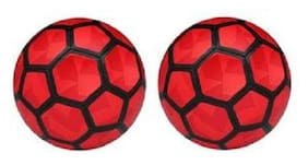 MDN Strike Duro Red PVC Football (Size-5) - Pack of 2 Footballs