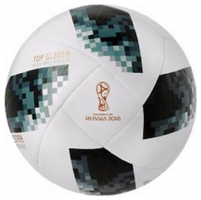 MDN TELSTAR RUSSIA 2018 WHITE/BLUE FOOTBALL SIZE-5 (PACK OF 1)