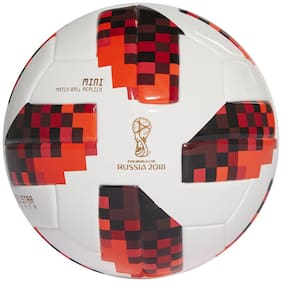 MDN TELSTAR RUSSIA 2018 WHITE/RED FOOTBALL SIZE-5 (PACK OF 1)