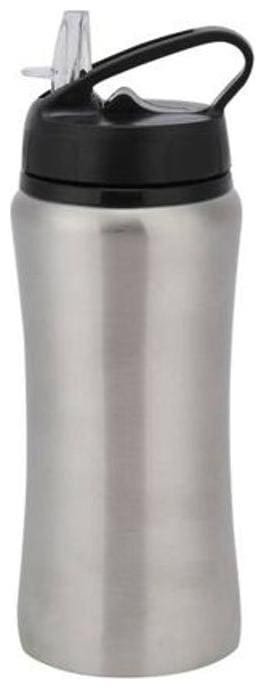 Meenamart stainless steel silver water bottle and sipper