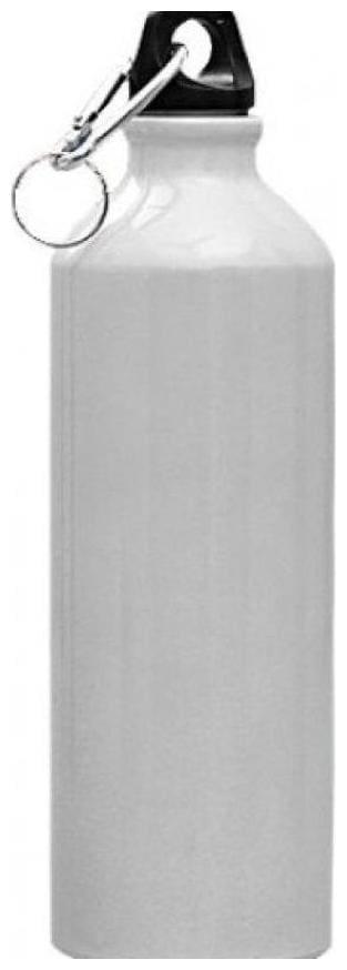 Meenamart stainless steel white matt water bottle