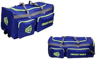 MEGAPAK Royal Blue Large Team Cricket Sports Big Sports Gears Multi Pockets Wheel Water Resistant Kit Bag For Men/Senior/Boys/Adult