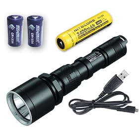 MH25GT Rechargeable Flashlight -1000Lm w/NL1834 3400mAh 18650 & 2x Free CR123