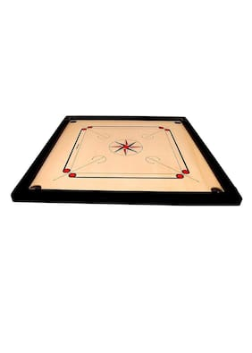MiKi 26 inch Wooden Carrom Board With Coins, Sticker, Carrom Power