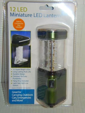 Miniature LED Lantern - Green - Low High Switch - Built in Compass (CF-6)