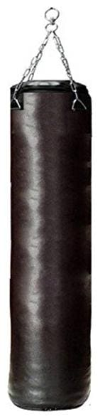 Monika Sports Pure Black Unfilled Strong PU Materials Punching Bag With Chain (3.5Ft)