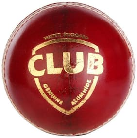Monika Sports Club Cricket Leather Ball  (Pack of 1, Red)
