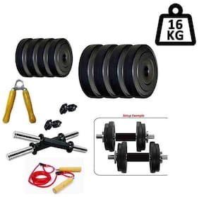 Monika Sports PVC 16 kg Dumbbell Set And Accessories