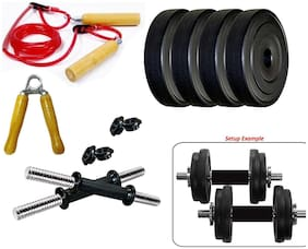 Monika Sports PVC 10 KG Dumbbell Set And Accessories