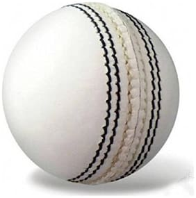 Monika Sports moni Cricket Leather Ball (Pack of 1, White)