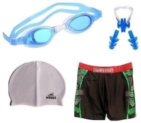 Morex Swimming Cap, Googles, Trunks (Size-XL), Ear plug & Nose plug CB-104