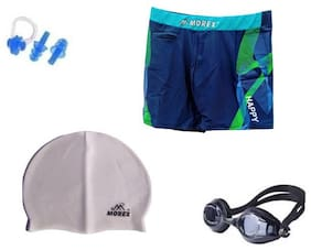 Morex Swimming Cap, Googles, Trunks (Size-XL), Ear plug & Nose plug CB-212